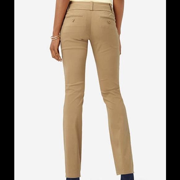 Bootcut tan pants