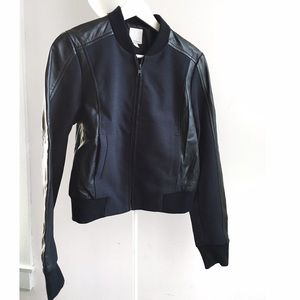 Halogen Jackets & Blazers - Halogen mixed media leather bomber
