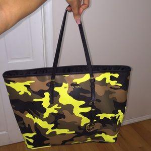 38e5edaad6e4 Michael Kors Bags - Neon green camouflage bag