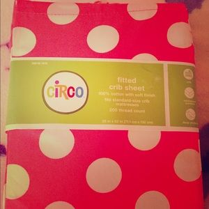 Other - Circo brand new fitted crib sheet pink dot