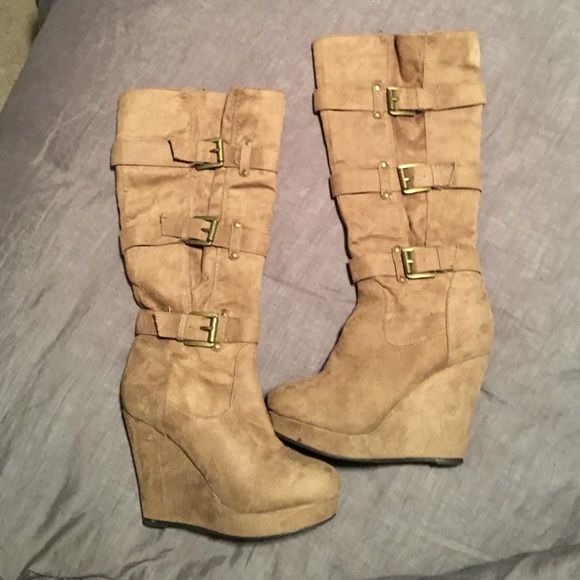 83 russe shoes brown suede boots size 8