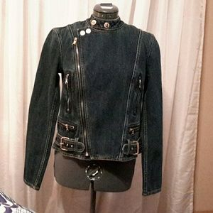 Ralph Lauren denim motorcycle jacket  size s
