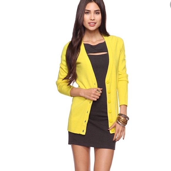 76% off Forever 21 Sweaters - 🌟Forever 21 Bright Yellow Boyfriend ...