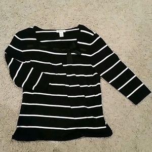 Hampshire studio black & white L sweater