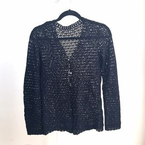 Free People Sweaters - NEW boho open knit black cardigan