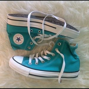 Teal Converse All Stars Hi-Top