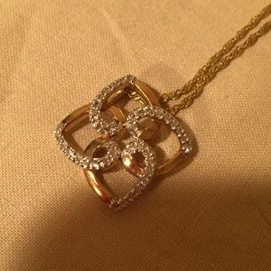 Jewelry - Diamond & 10k Gold 4 heart necklace. CLEARANCE