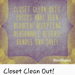 Cleaning my closets out!