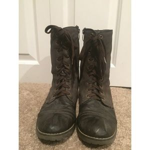 Volatile Shoes - Very Volatile Brown Combat Boots Size 10