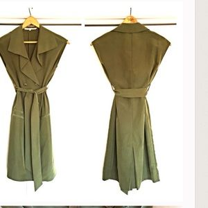 Rachel rachel Roy olive trench vest dress