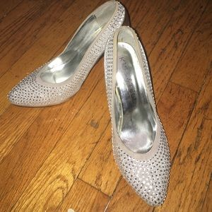 Shoes - Sparkly Silver Heels