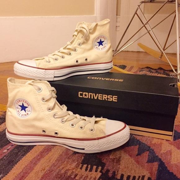 Cream Poshmark Converse Top High In Taylor ShoesChuck Allstar uZOPXki