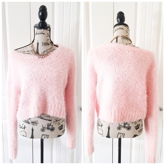 Mossimo Supply Co. - Pretty Light Pink Fuzzy Sweater from ...