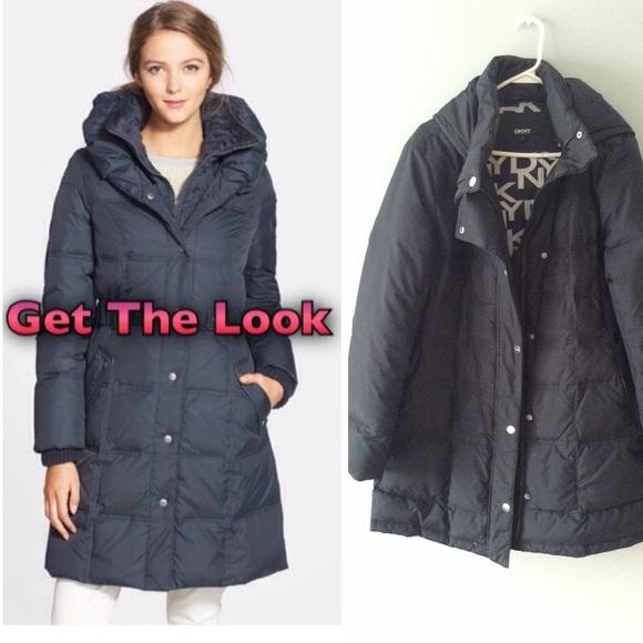 82% off DKNY Jackets & Blazers - DKNY Navy Blue Down Coat (Bubble
