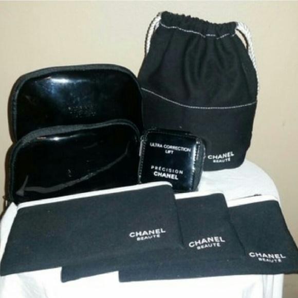 6f654cdf8e60 CHANEL Handbags - Chanel makeup cosmetic canvas drawstring bag case