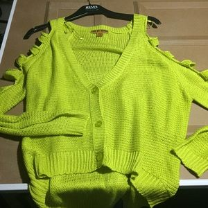 Other - neon green/yellow cardigan