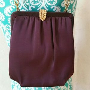 Vintage Bags - Vintage Satin Evening Bag