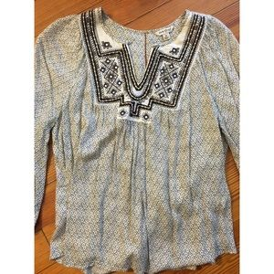 Lucky brand detailed blouse