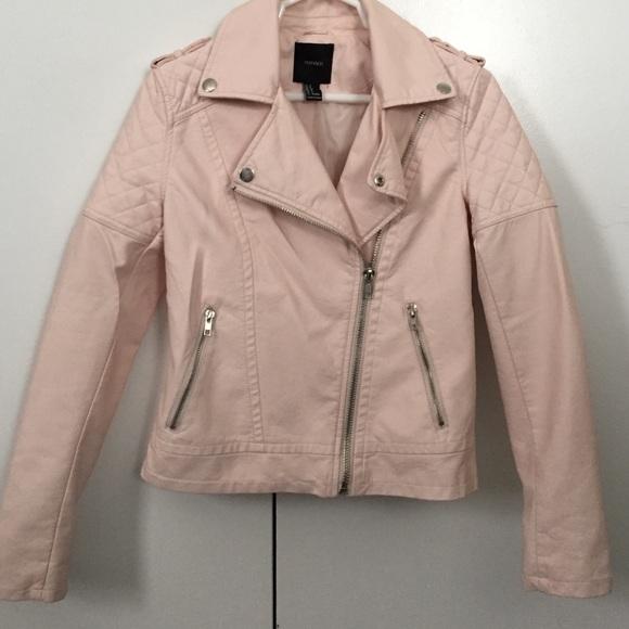 Forever 21 Jackets Amp Coats Baby Pink Leather Jacket