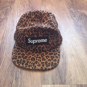 Urban Outfitters Accessories - Supreme leopard 5 panel hat b4a56b066fd7