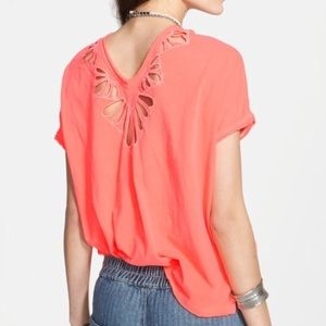 Free People Tops - Free People Double Cutout V-Neck Top