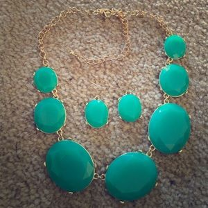 Jewelry - Teal Colored Stone Set.