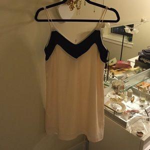 LuLu black and cream shift dress