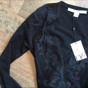 Diane von Furstenberg Sweaters - DIANE VIN FURSTENBURG Ballerina Wrap Shirt