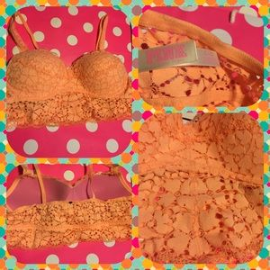 PINK Victoria's Secret Other - Pink Victoria's Secret Peach Lace Bralette.