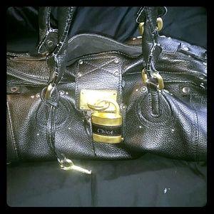 Black Chloe paddington bag