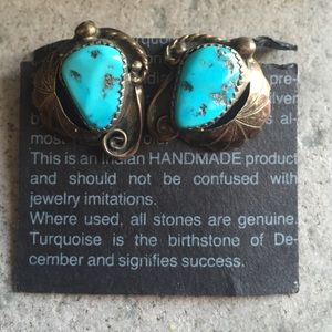 TURQUOISE CLIP-ON VINTAGE EARRINGS