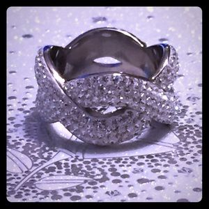 Steel by Design Jewelry - 💎Eternally Yours Woven Band Ring•Pave' Crystals💎