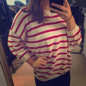 Oversized striped Mango sweater