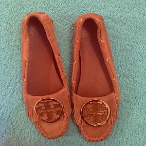 TORY BURCH tan moccasins!