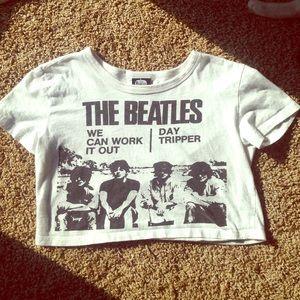 The Beatles crop top- XS