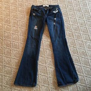 Hollister Size 7 Flared Jeans Dark Wash
