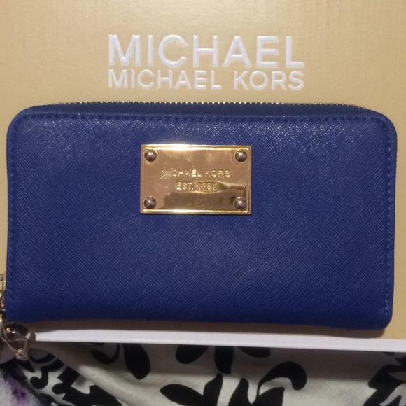 5d7bf6d4969d Michael Kors Bags | Royal Blue Wallet | Poshmark