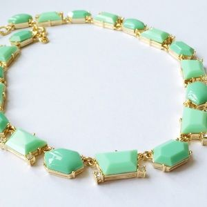 J. Crew dotted shapes necklace - bright spearmint