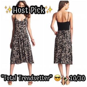 LOFT Dresses & Skirts - ✨🎉HP🎉✨ NWT Scribble Print Spaghetti Strap Dress