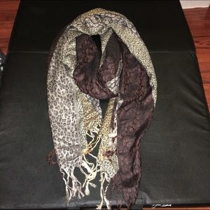 Multi color cheetah scarf