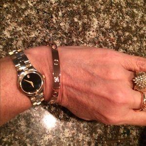 NWOT. Rose gold love bracelet. Alternating crystal