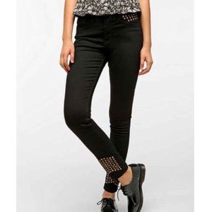 BDG Cigarette High-Rise Cone Studded Jean