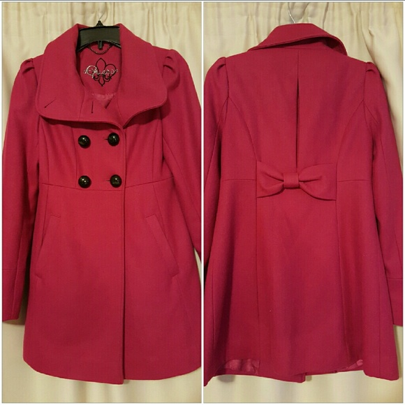 73% off Guess Jackets & Blazers - Guess dark pink coat from ...