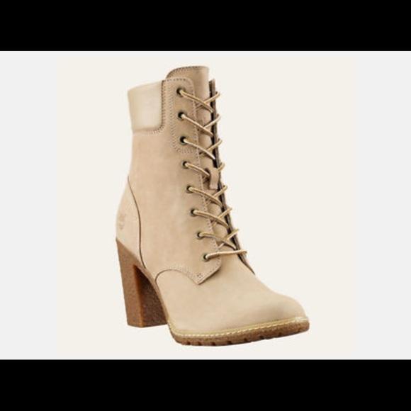 33281d12a8a3 Beige timberland heels. M 56b934de5c12f8377b0573e3