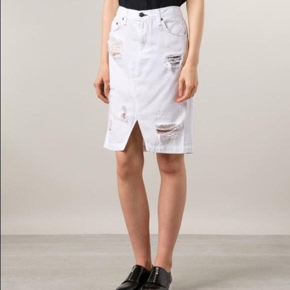 72% off rag & bone Dresses & Skirts - Rag & bone white distressed ...
