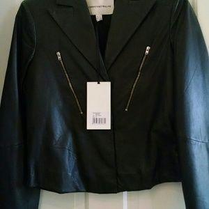 Twenty8Twelve Jackets & Blazers - Twenty8Twelve Mason navy leather moto jacket