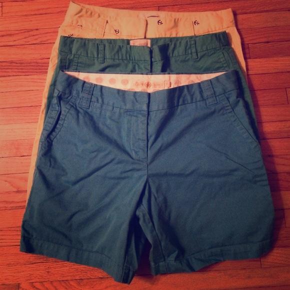 Lot of 3 pairs of J Crew Bermuda Shorts size 8-10