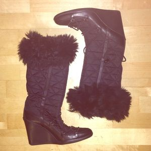 Gorgeous PRADA Wedge Winter Boots 38 1/2