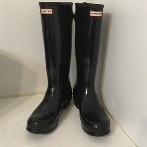 Hunter gloss tall back adjust boots