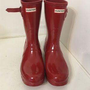 Hunter original short gloss boots